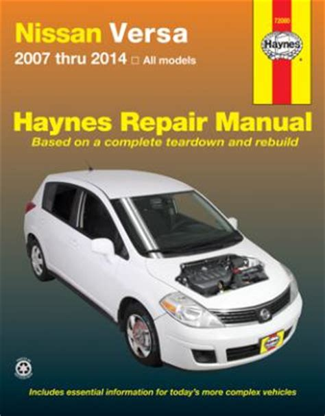 chilton car manuals free download 2012 nissan versa electronic toll collection nissan versa haynes repair manual 2007 2014 hay72080