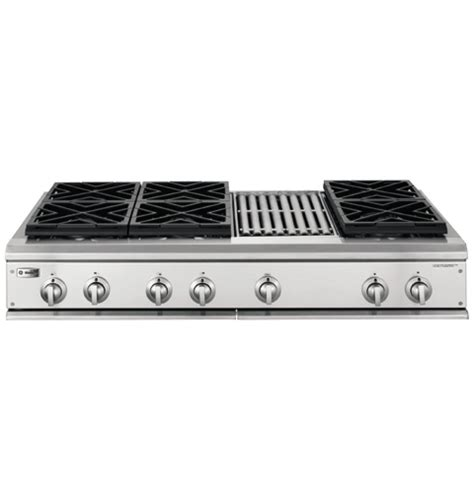 gas cooktop with grill ge monogram 174 48 quot professional gas cooktop with 6 burners