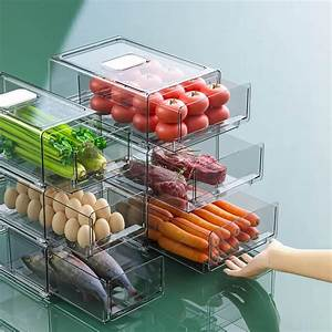 Refrigerator, Organizer, Bins