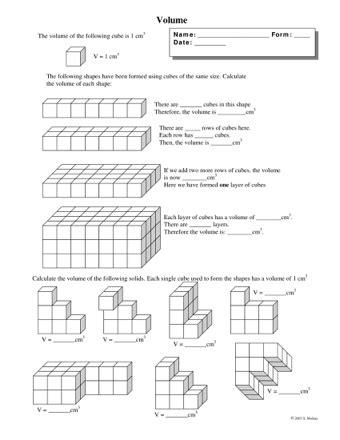 volume of cubes teaching ideas