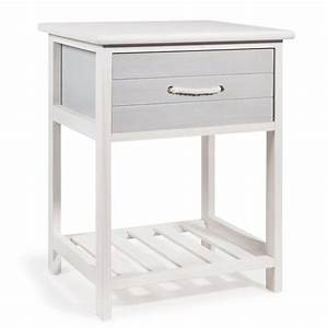 chevet en bois blanc l 30 cm oleron maisons du monde With table de chevet 30 cm