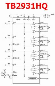 Tb2931hq Datasheet - 4-channel Audio Amplifier Ic