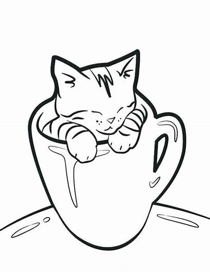 Cat Coloring Pages Fat Printable Getcolorings Colorings