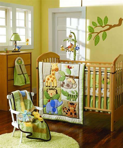 jungle crib bedding set giraffe elephants monkeys jungle animals boy baby crib