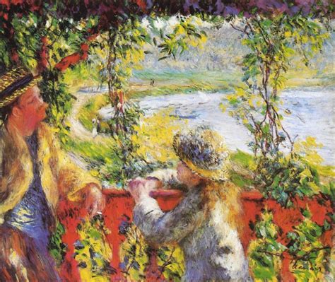 Renoir By The Lake Oil Painting Reproduction