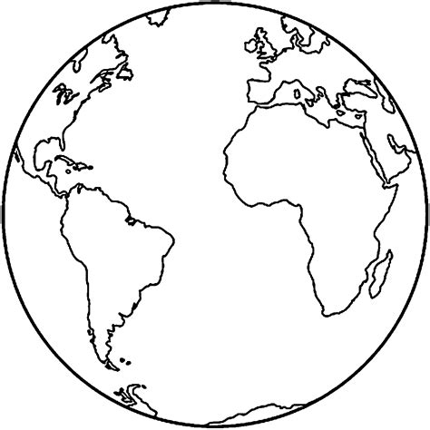earth coloring page coloring pages  kids template