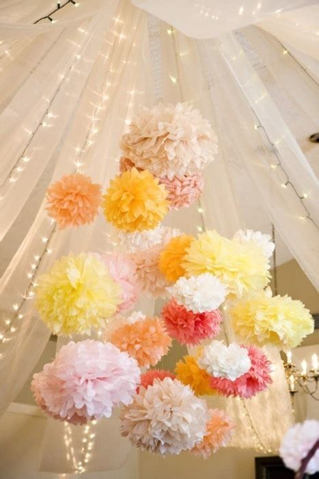 Paper Pom Poms ♥ Wedding & Party Decoration #799176  Weddbook. Ceiling Hanging Decorations Ideas. Rooms To Go Bar. Decorative Shutter Hardware. Do It Yourself Room Dividers. Sports Decoration Ideas. Living Room Furniture Stores. Bassett Living Room Furniture. Twin Bed Decorating For Guest Room