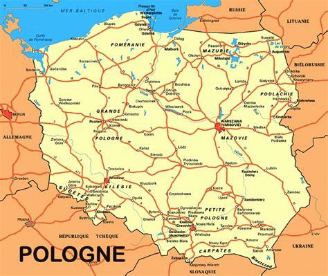 Carte De La Ville by Carte De La Pologne Arts Et Voyages