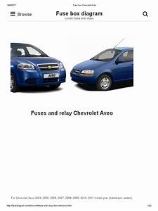 2004 Chevrolet Aveo Fuse Box Diagram