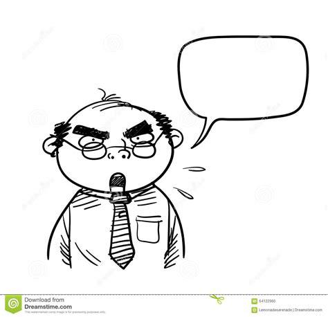 grumpy boss stock vector image