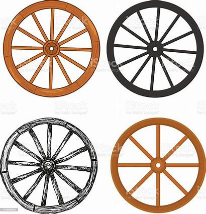 Wheel Wooden Clipart Vector Antique Craft Carriage