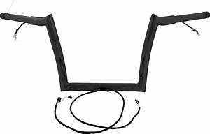 Baggernation Pre Wired Monkey Bagger Bars 16 U0026quot  Black Mbbpw