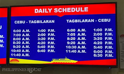 Ferry Boat Bohol To Cebu by Ferry Guide From Cebu To Bohol Philippines Redcat