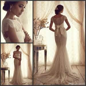 vintage wedding dresses cheap vintage lace luxury trumpet wedding dresses 2015 new cheap sleeves sheer ruffles empire