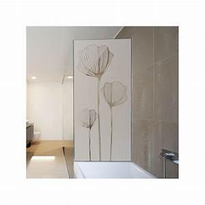 sticker depoli pour paroi de douche coquelicot With porte de douche coulissante avec stickers occultant fenetre salle de bain