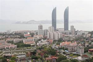 Birds-eye View Of Twin Towers And Xiamen University Campus ...