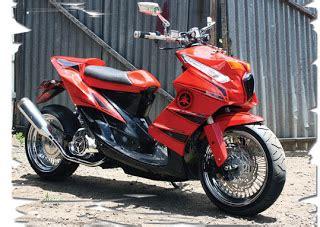Modif Motor Mio Lama Merah by Modifikasi Mio Soul Lebih Wahh Oto Trendz