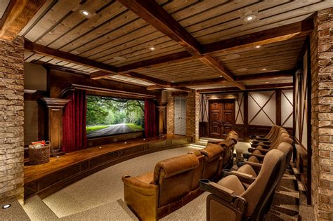 Rustic Theater Rustic Home Theater Charlotte By Kasted By