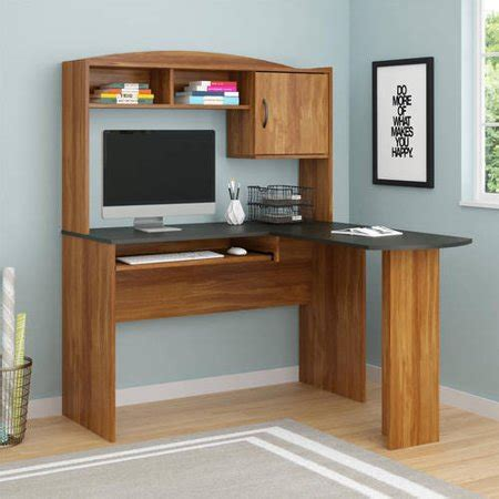 l shaped desk walmart mainstays l shaped desk with hutch colors