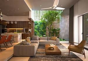 4, Homes, That, Feature, Green, Spaces, Inside, With, Courtyards