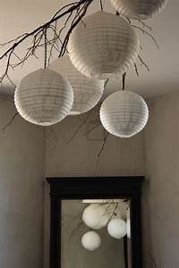 Suspension Boule Japonaise : suspension nature lampe boule papier de riz entree salon paper lanterns home decor et ikea ~ Voncanada.com Idées de Décoration