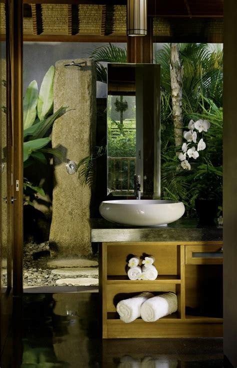 comment amenager la salle de bain exotique  idees