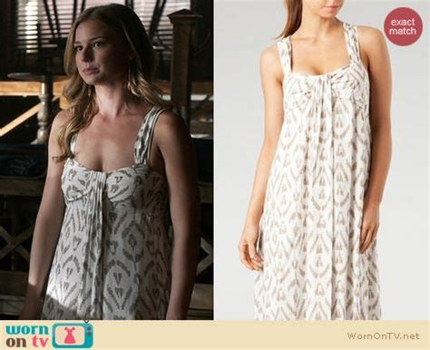 wornontv emily s white and gold patterned maxi dress on emily vanc clothes and