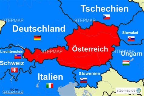Nachbarstaaten Österreichs von Lee14 - Landkarte für ...