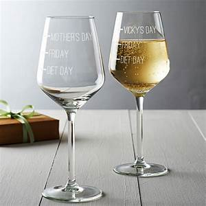 'diet day, friday, mother's day' wine glass by becky broome   notonthehighstreet.com