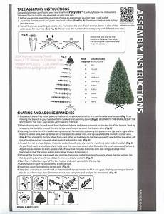 Artificial Christmas Tree Assembly Instructions  So I Don