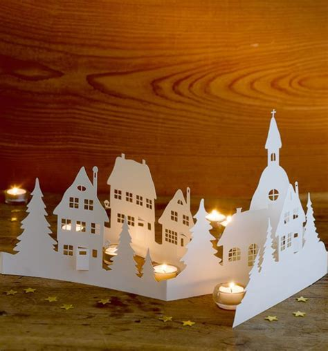 winterliche papierszenen kreativkompakt christmas