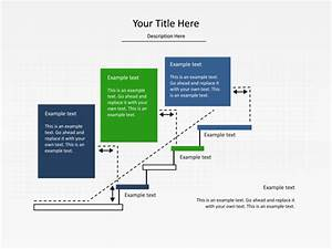 Powerpoint Slide - Step Up Process Diagram - 3 Blocks