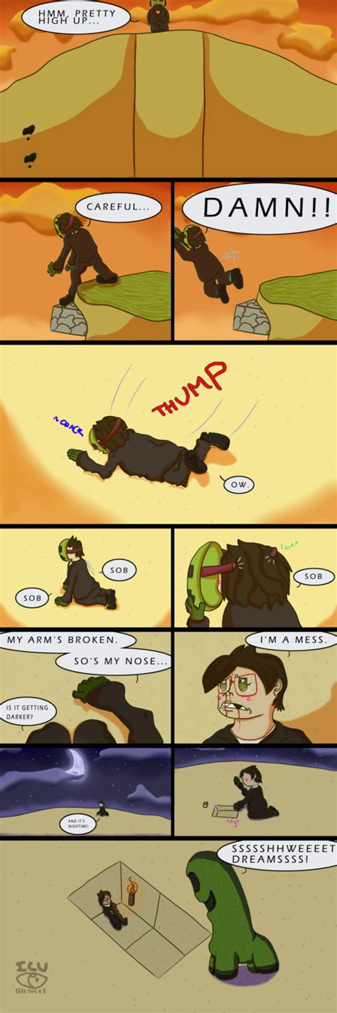 comic minecraft fall damage  lilowoof  deviantart