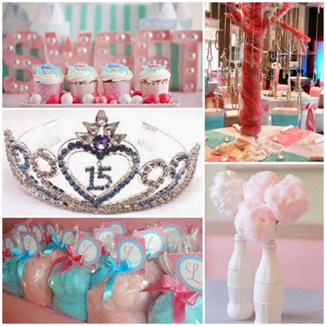 cotton candy super sweet fifteen quinceanera theme