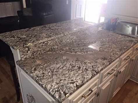 white kitchen  granite lennon countertops google search granite   white granite