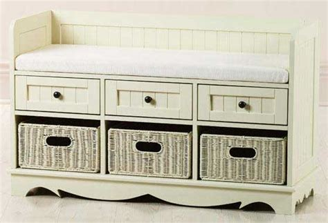 Bench Seat With Basket Storage by White Storage Bench With Baskets Interior Exterior