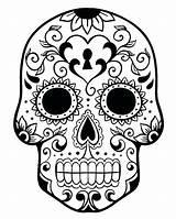 Skull Coloring Pages Bones Crossbones Printable Getcolorings sketch template