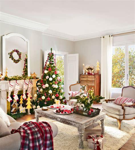 decoracion de navidad en rojo  verde  ideas