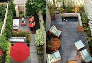 Kleinen Balkon Optimal Nutzen : hinterhof mit kleinem garten und terrasse modern gestalten garden pinterest kleine g rten ~ Bigdaddyawards.com Haus und Dekorationen