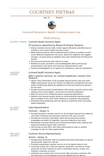 insurance resume sles visualcv resume sles