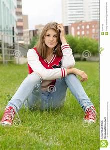 Young Woman Sitting Cross Legged Royalty Free Stock Image ...  Sitting