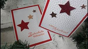 Weihnachtskarte Selber Machen : sternen weihnachtskarte selber basteln diy cardmaking tutorial in deutsch youtube ~ Orissabook.com Haus und Dekorationen