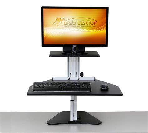 kangaroo standing desk dual monitor kangaroo adjustable height desk ergo desktop