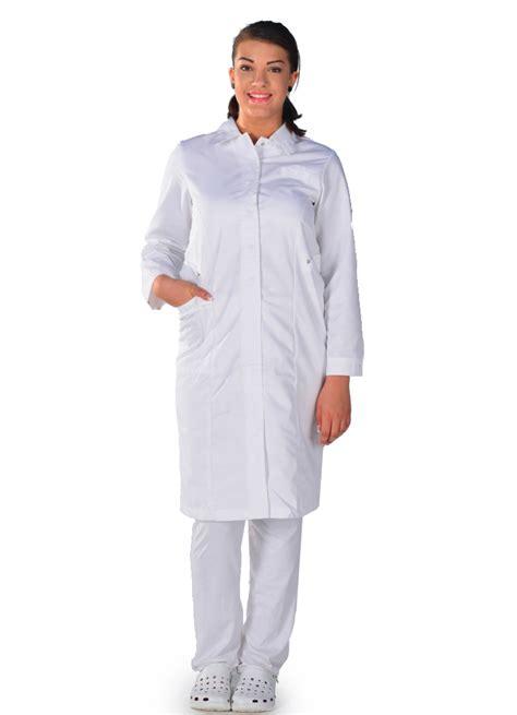 blouse de cuisine femme pas cher blouse médicale blanche manches longues metiers de sante