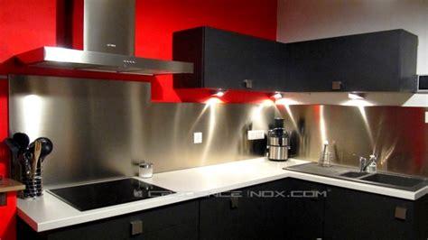 revetement mural inox pour cuisine les crédences inox à épaisseur 11 17 et 20mm le décoration de crédence inox