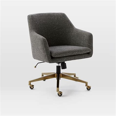 helvetica upholstered office chair west elm