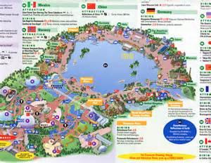 Walt Disney World Epcot Park Map