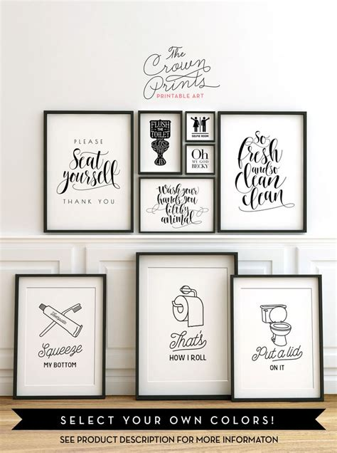 etsy bathroom wall 25 best ideas about bathroom signs on