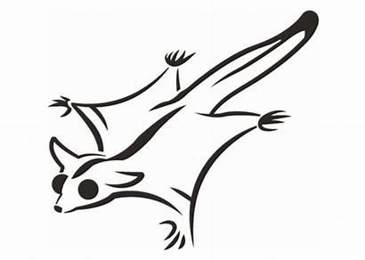 Glider Sugar Clipart Animal Wild Pumpkin Stencils