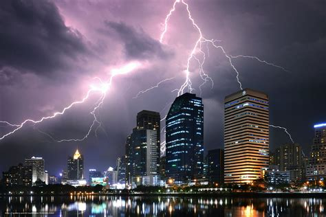 wallpaper bangkok thailand city lightning free